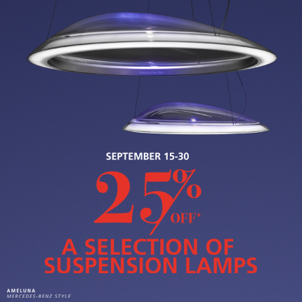 Suspension Lamp Sale (Sep 2017)