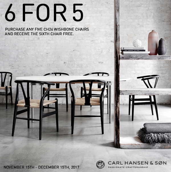 Carl Hansen, CH24 Wishbone Chairs - 6 For 5 Promotion