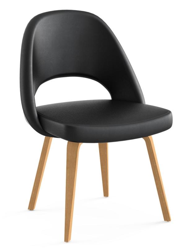 Knoll Eero Saarinen Executive Armless Chair Wood Legs