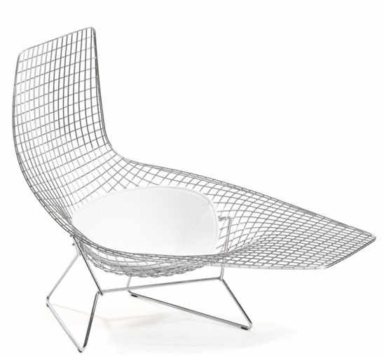 Knoll harry bertoia asymmetric chaise outdoor gr shop for Chaise bertoia knoll prix