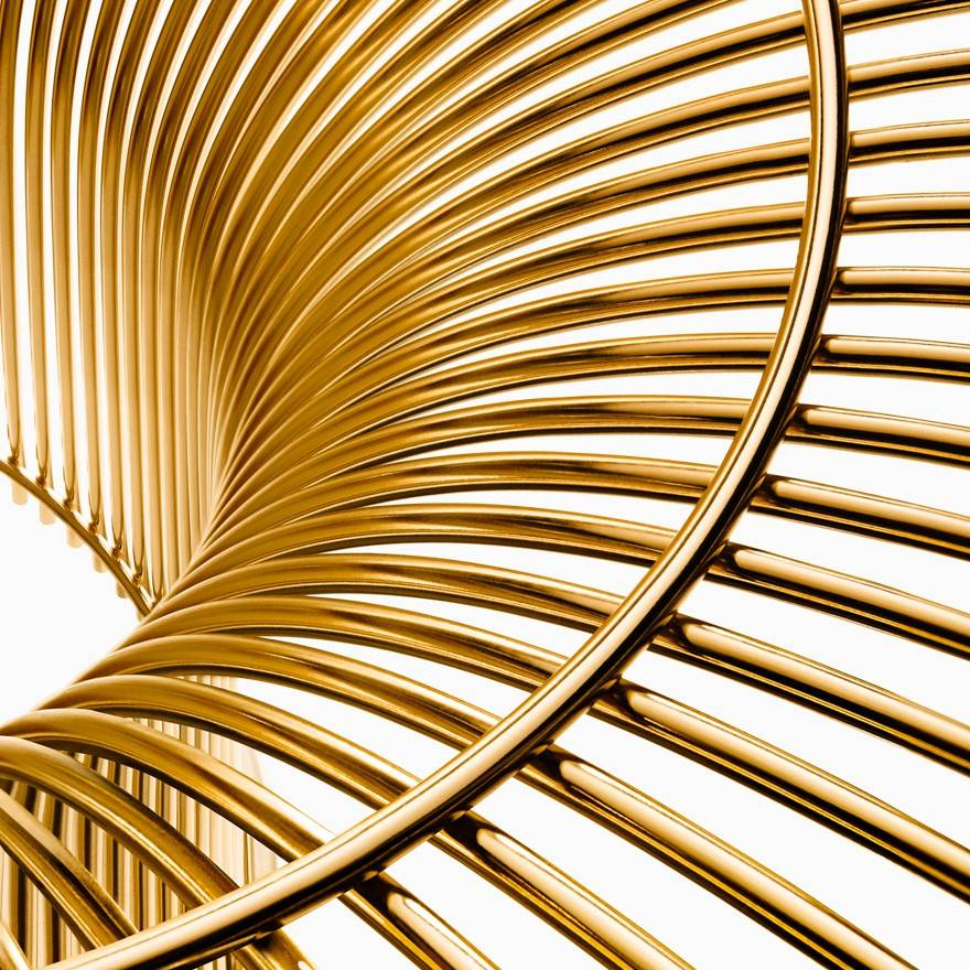 Knoll Warren Platner - Seating Collection - Arm Chair in Gold