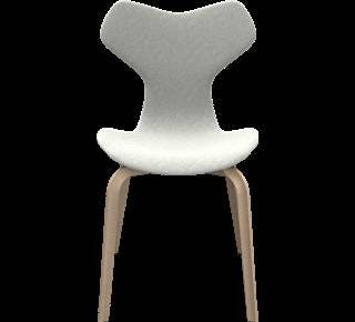 Fritz Hansen Grand Prix Chair with Wooden Legs (Fully Upholstered)