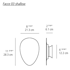 Ron Rezek Facce Wall/Ceiling Lamp