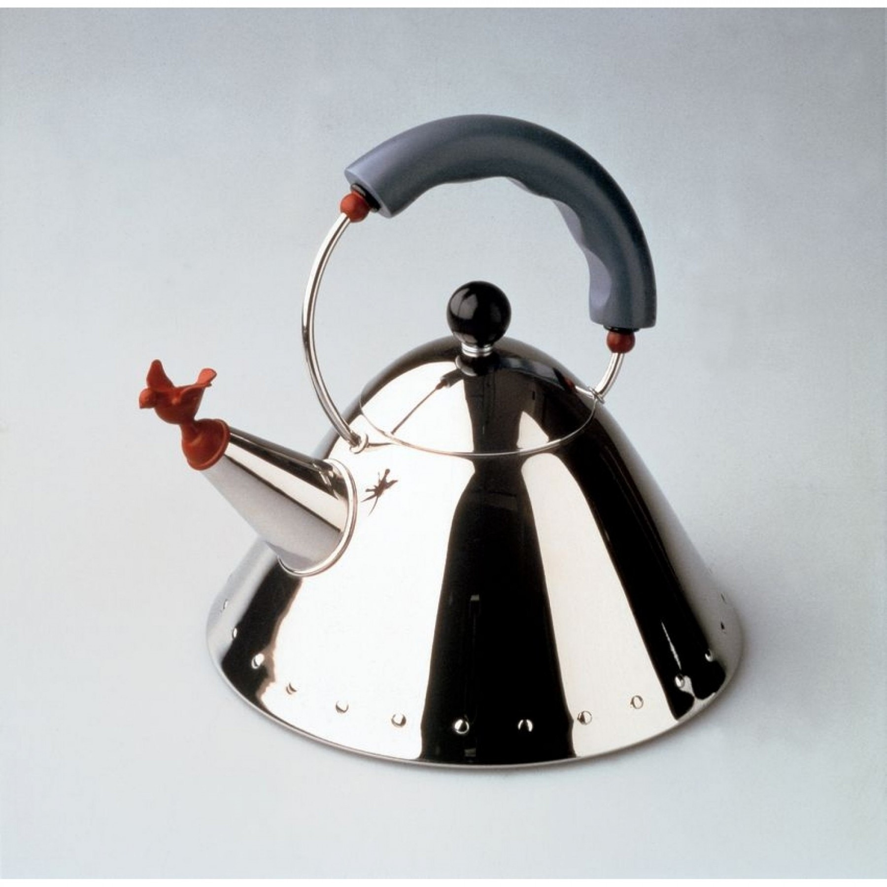 alessi michael graves kettle with small birdshaped whistle  gr  -