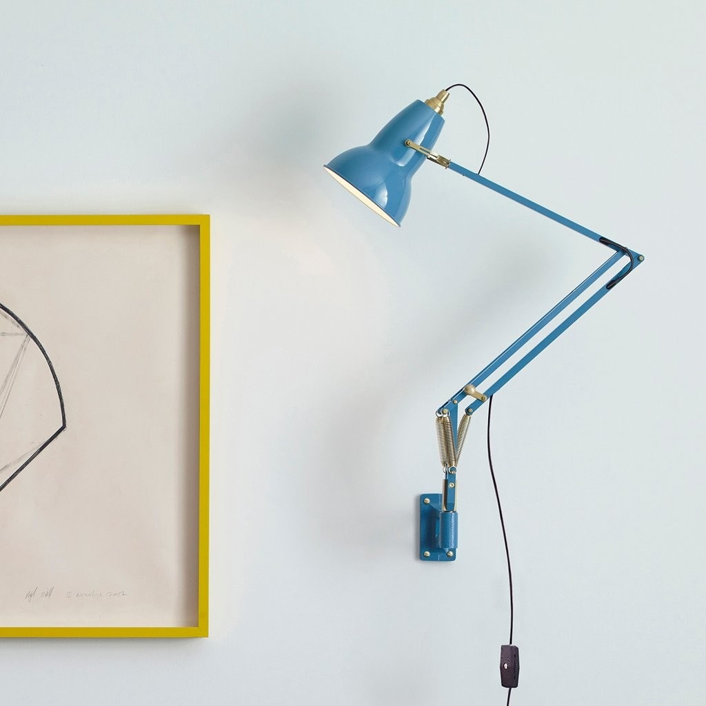 Anglepoise Original 1227 Brass Wall Mounted Task Lamp