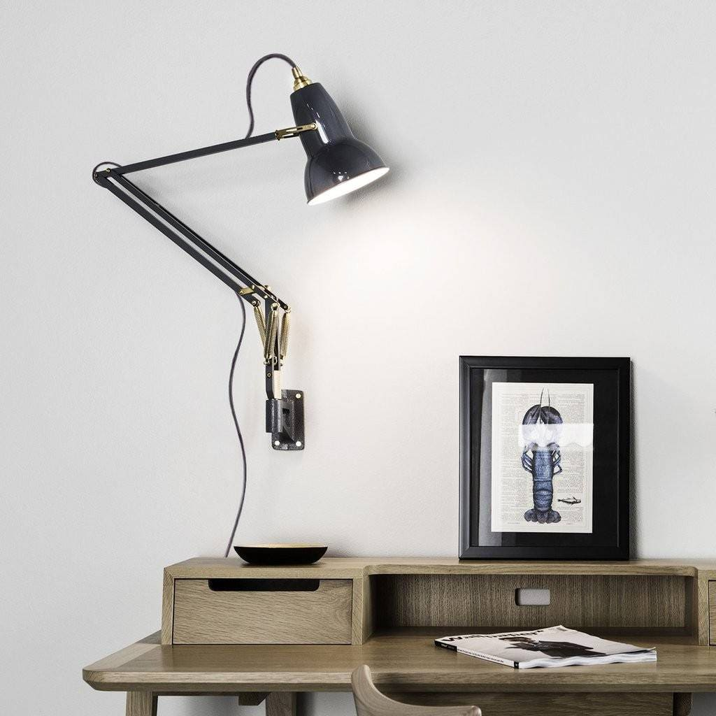 Anglepoise Original 1227 Brass Wall Mounted Task Lamp Gr