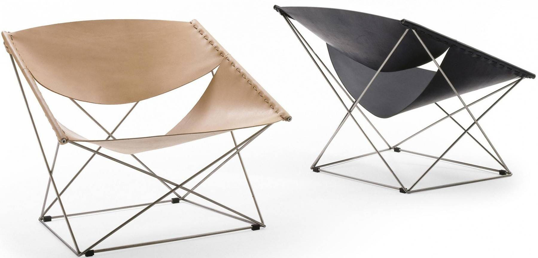 ... Butterfly Sessel Knoll ~ Hardoy Butterfly Chair Neck Leder Elfenbein  Gold Lounge Chairs ...