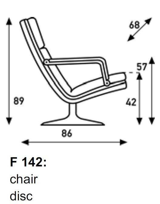 Artifort F 142 Disc Lounge Chair