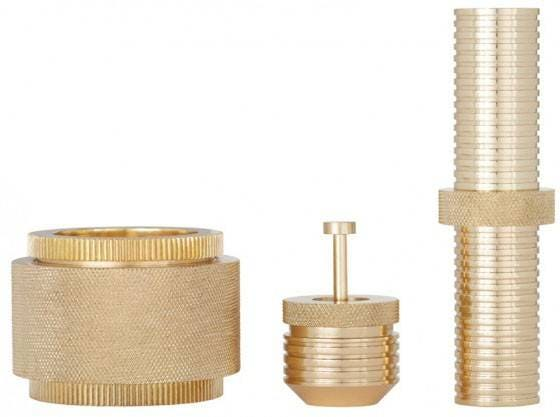 Tom Dixon Cog Container Tall Brass