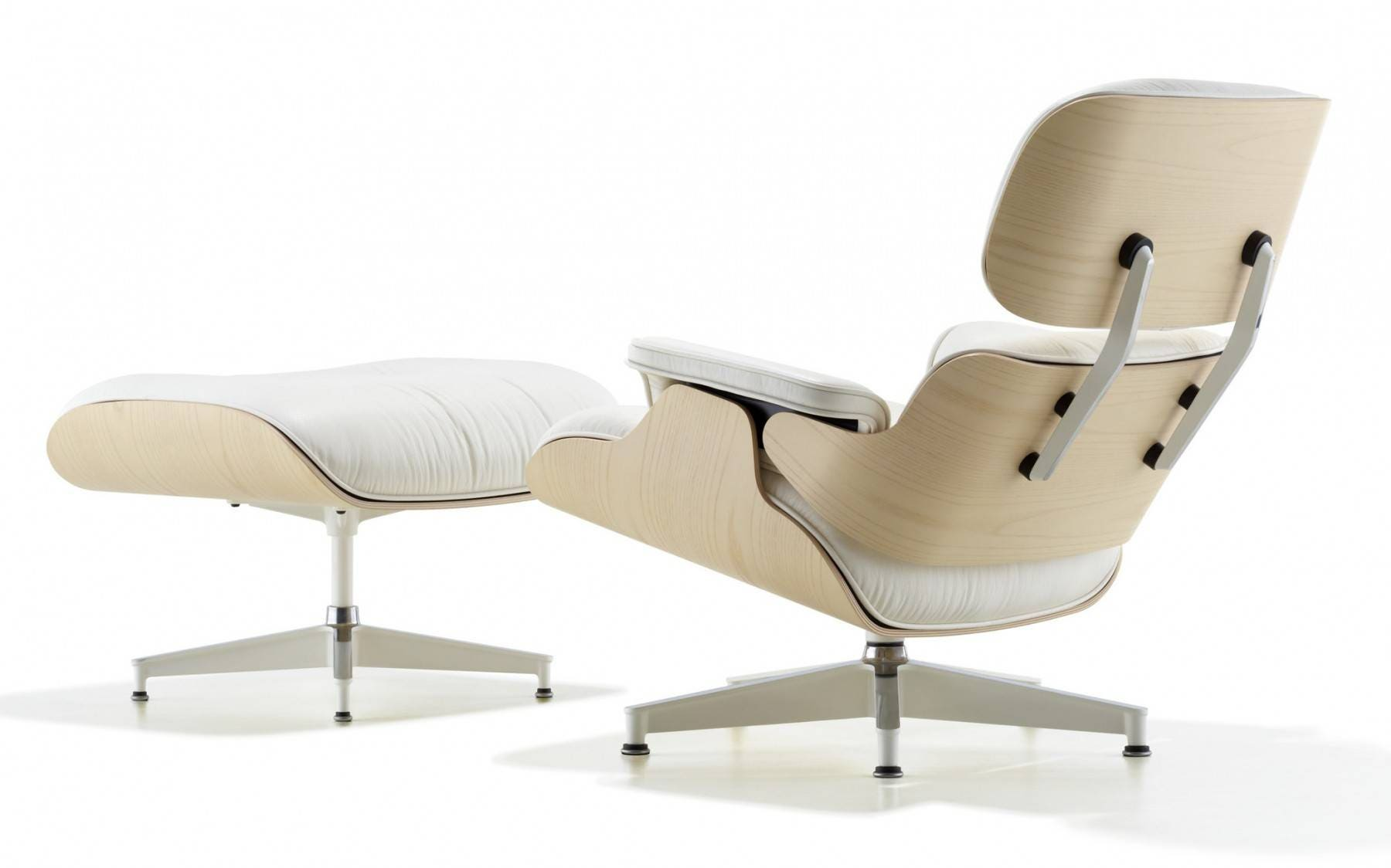 Herman Miller Eames 174 Lounge Chair And Ottoman White Ash Gr Shop Canada