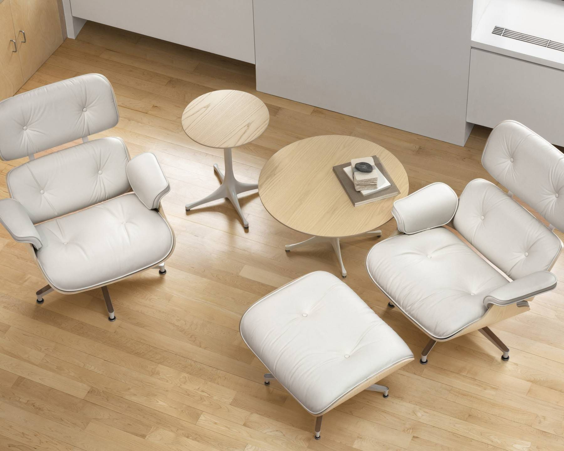 96c5d05f1e05 Herman Miller Eames® Lounge Chair and Ottoman White Ash