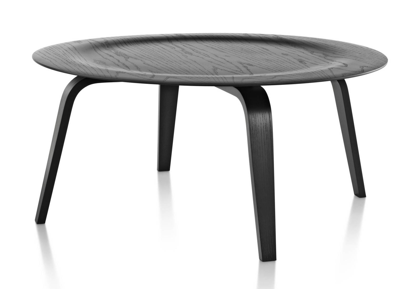 herman miller eames molded plywood coffee table wood base. Black Bedroom Furniture Sets. Home Design Ideas