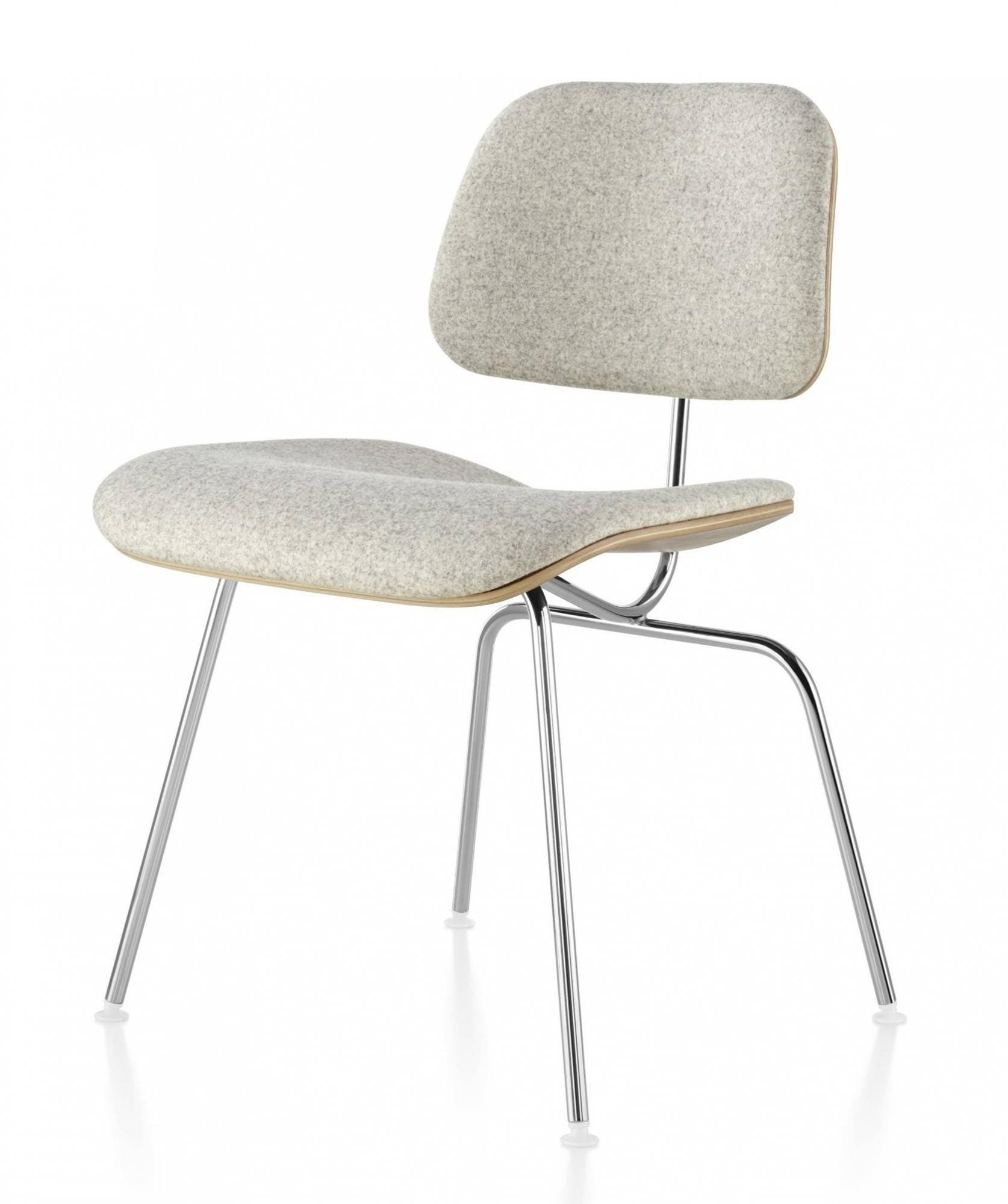 Herman Miller Eames® Molded Plywood Upholstered Dining Chair - Metal Legs