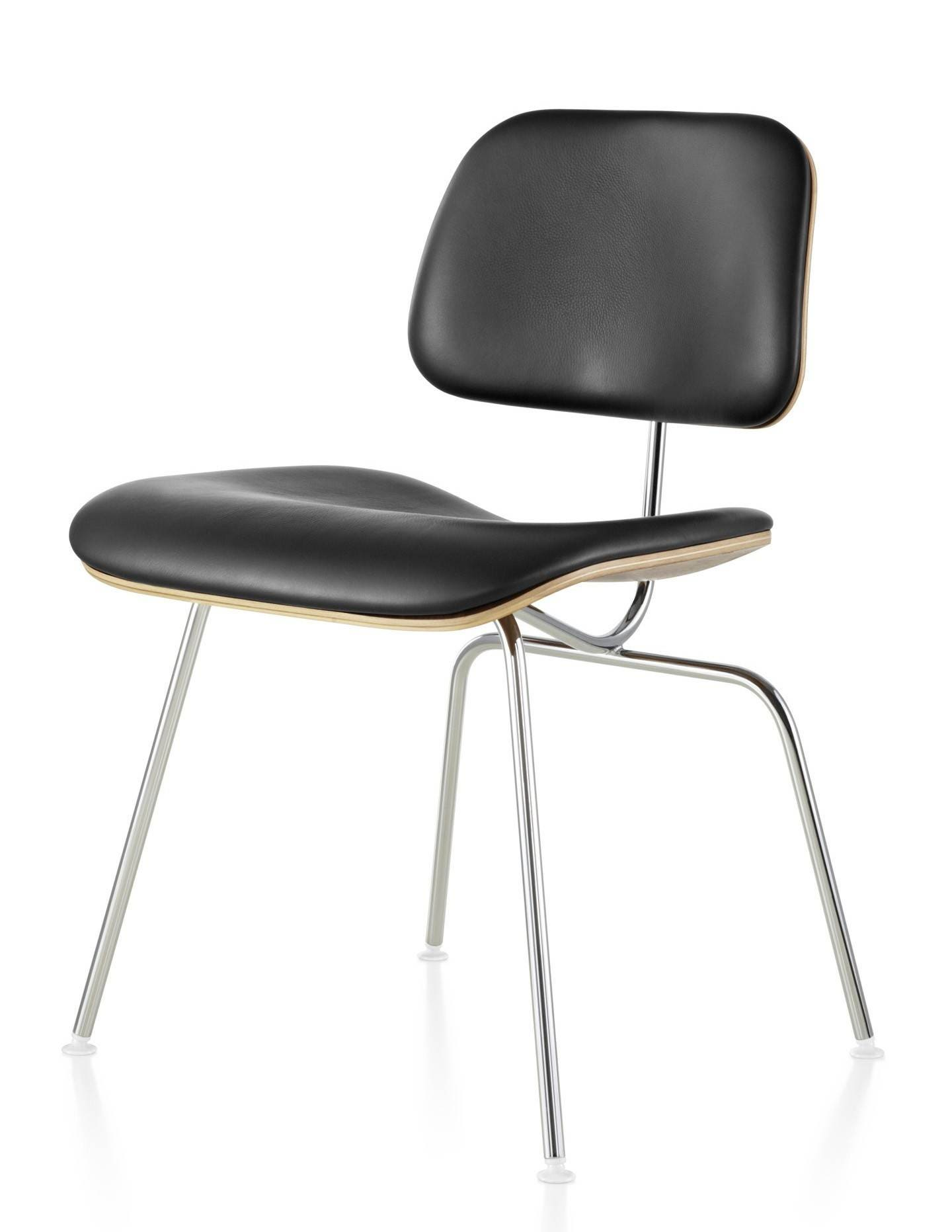 Magnificent Herman Miller Eames Molded Plywood Upholstered Dining Chair Metal Legs Pabps2019 Chair Design Images Pabps2019Com