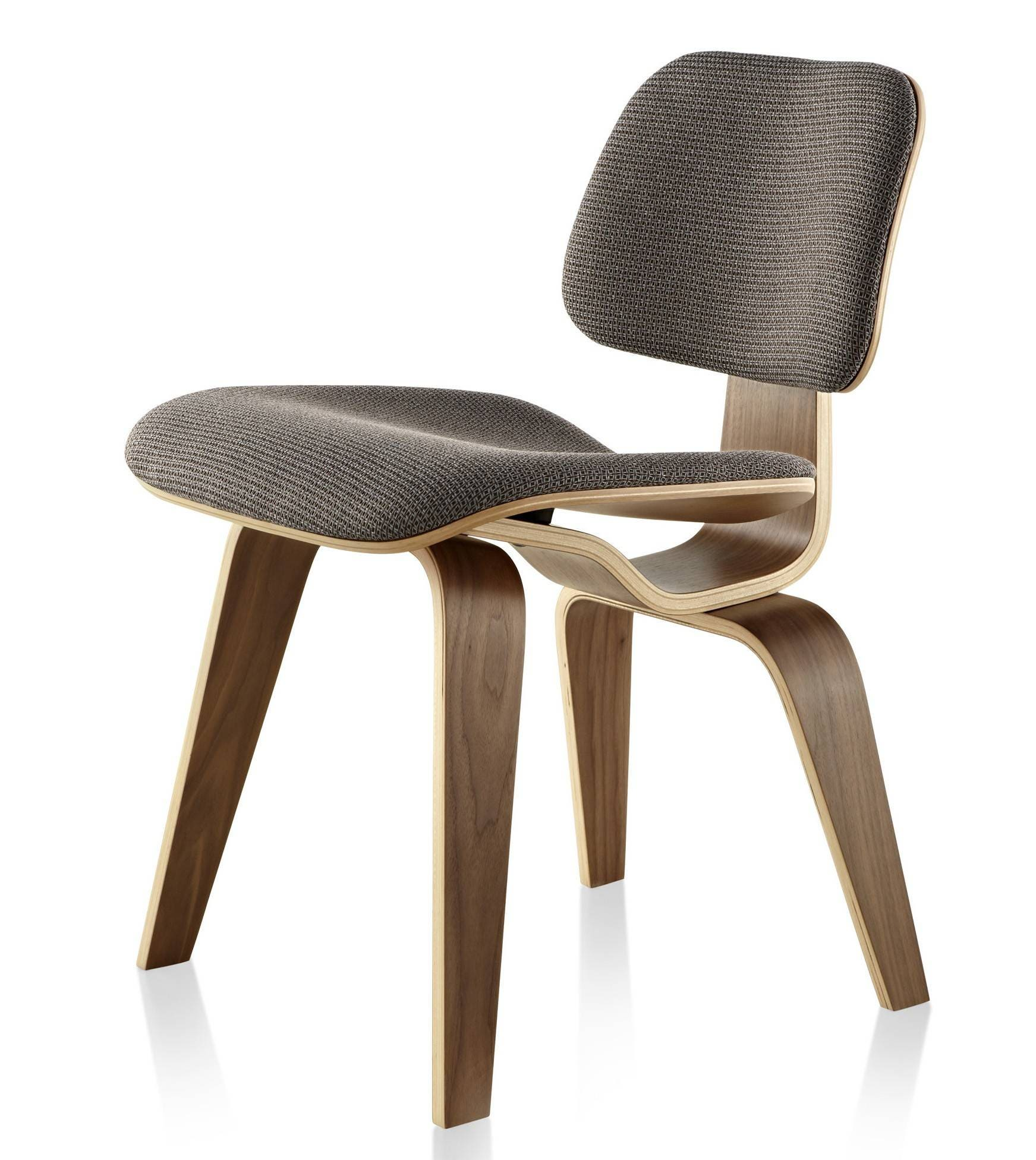 Herman Miller Eames® Molded Plywood Upholstered Dining Chair - Wood Legs