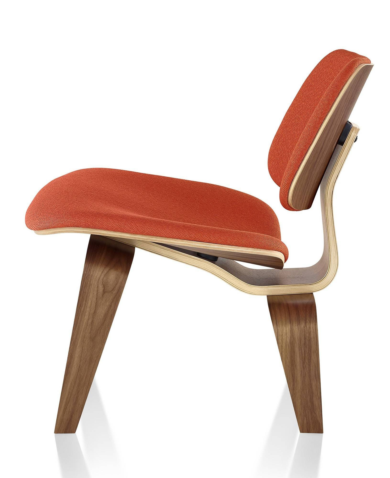 Herman Miller Eames® Molded Plywood Upholstered Lounge Chair - Wood Legs