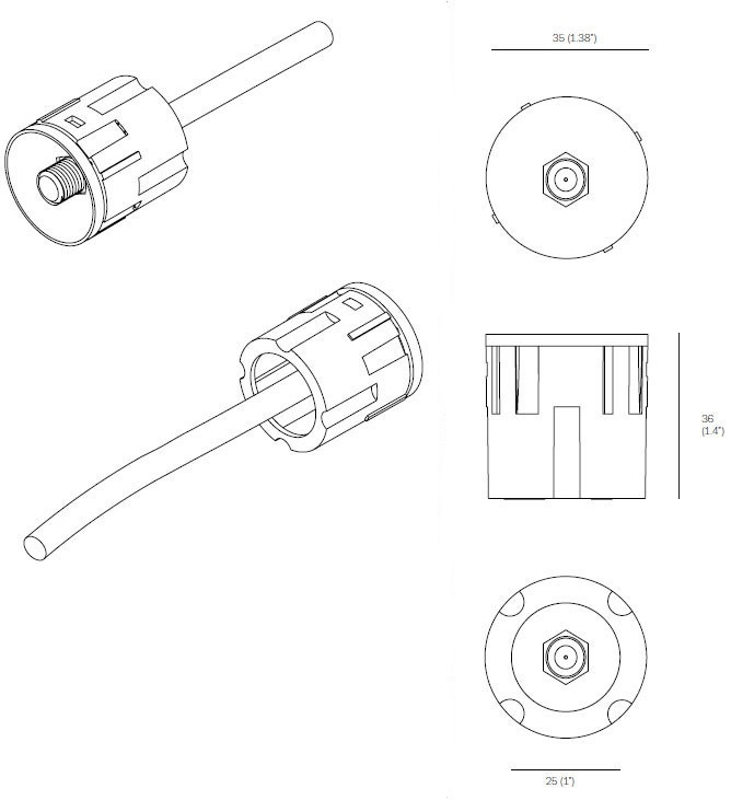 Bocci 22.3.5 F Connector Cable Receptacle