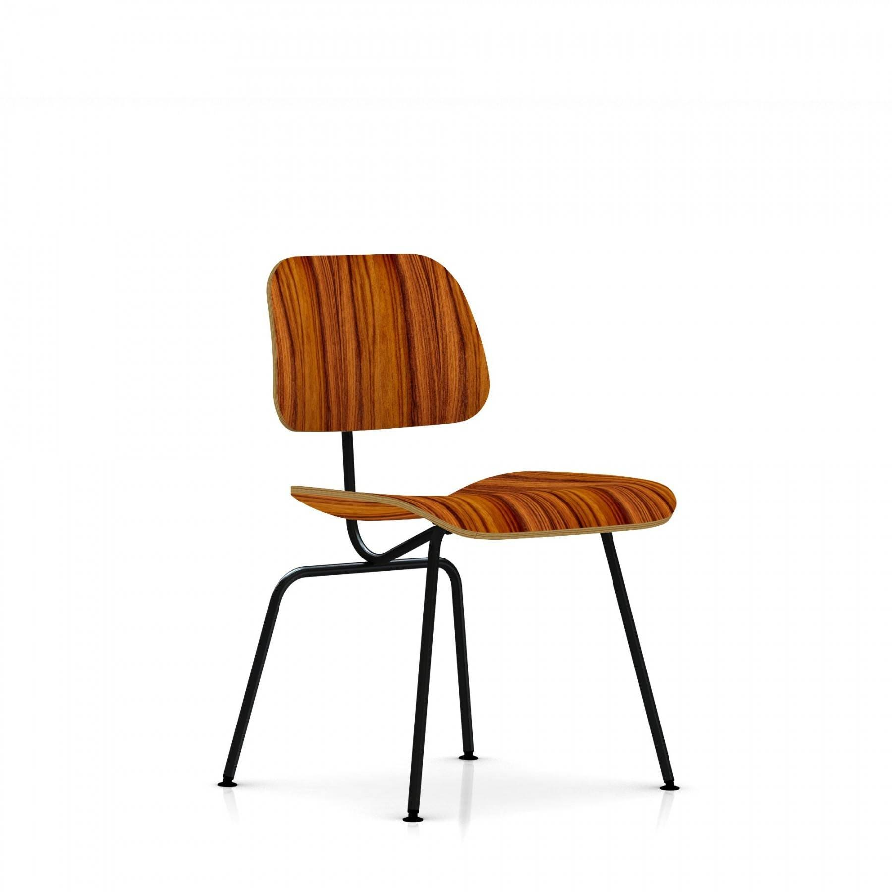 Herman miller plywood lounge chair -  Eames Molded Plywood Dining Chair Metal Legs 1