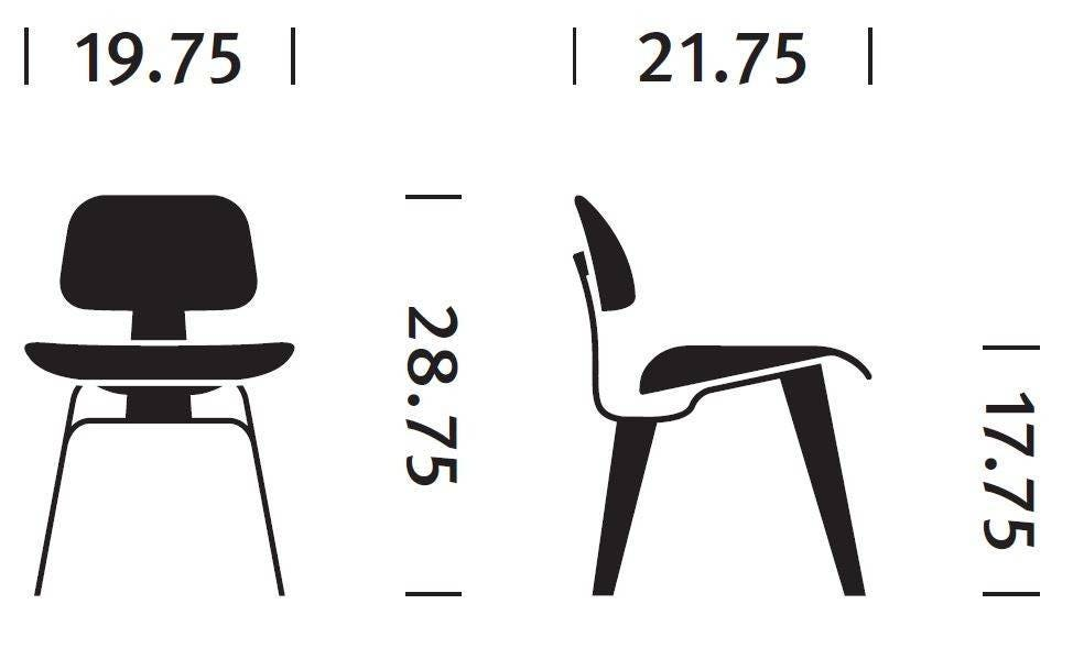 ... Herman Miller Eames® Molded Plywood Dining Chair - Wood Legs. 1