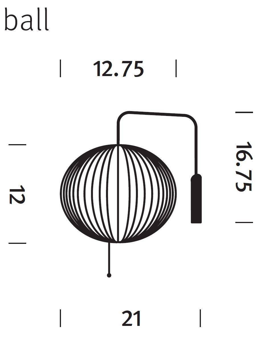 Herman miller nelson ball wall sconce gr shop canada 1 ccuart Images