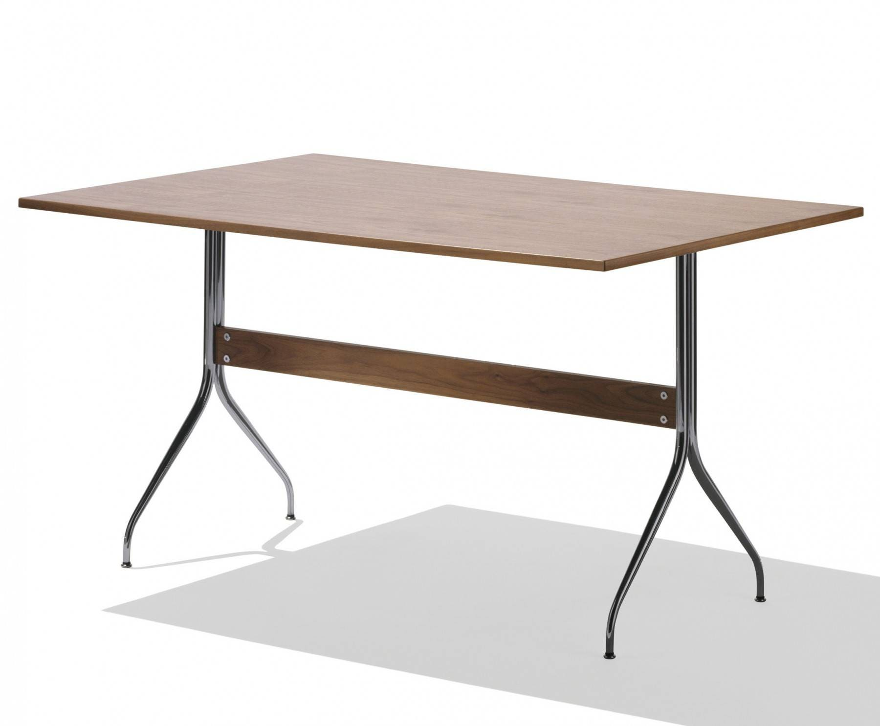 Herman miller nelson swag leg work table rectangular gr for Nelson swag leg table