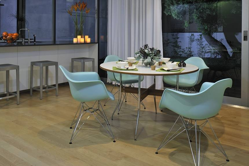 ... Nelson Swag Leg Dining Table Round. 1