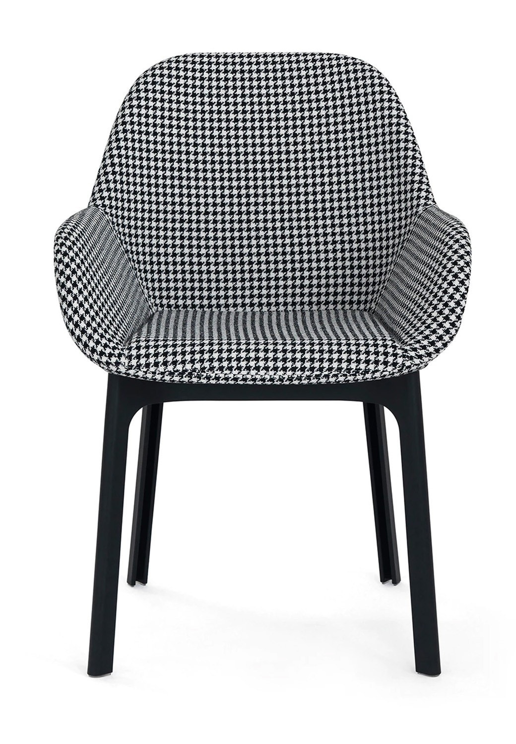 Kartell Clap Houndstooth Fabric Armchair