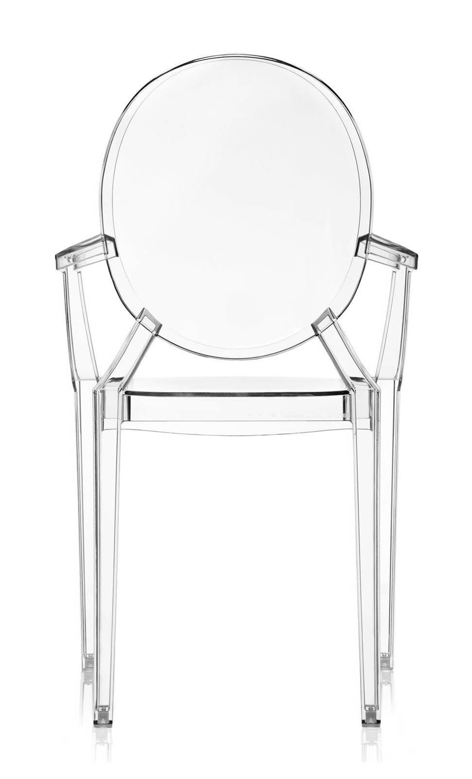 Kartell Louis Ghost Armchair - Crystal (Priced Each, Sold in Sets of ...