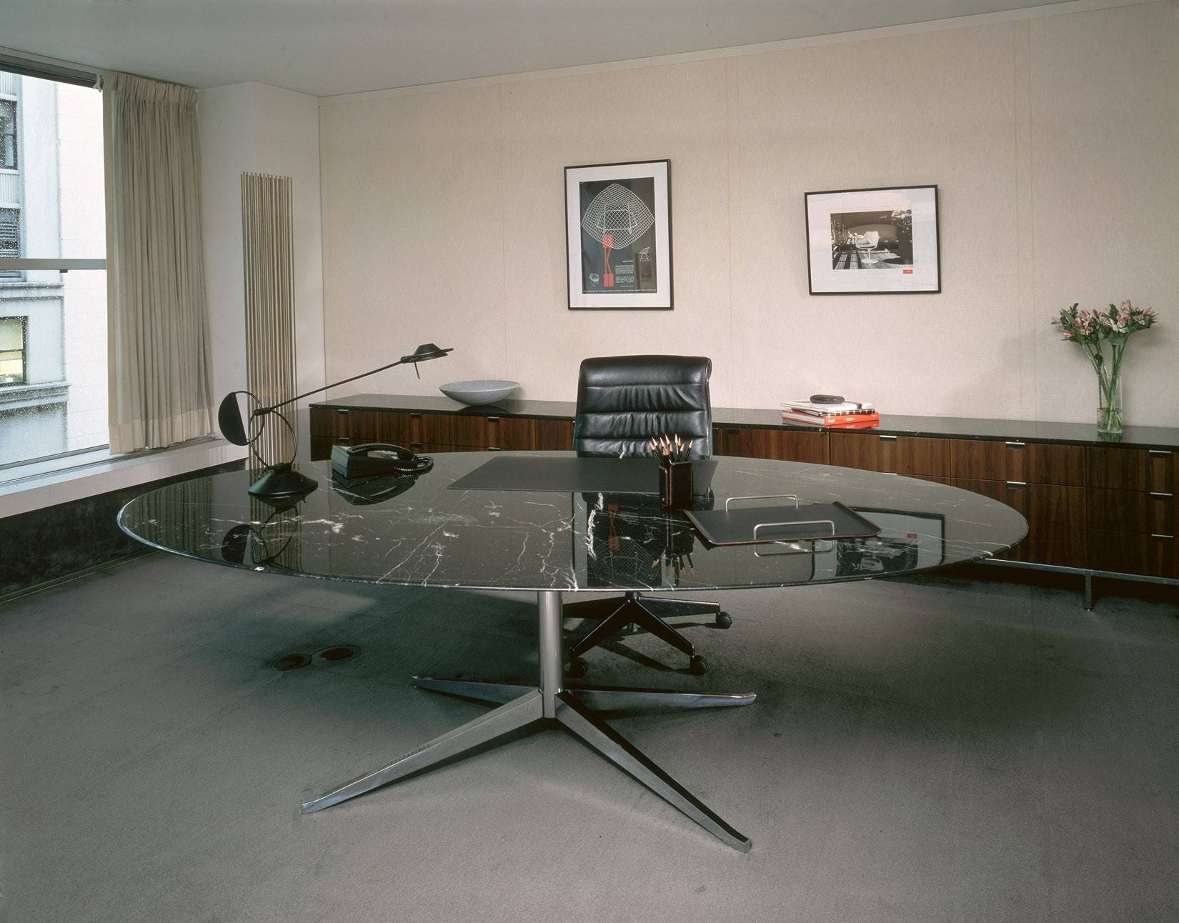Knoll Florence Oval Table Desk 1
