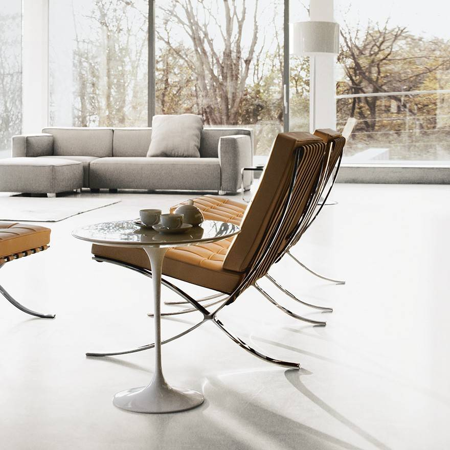 Knoll ludwig mies van der rohe barcelona lounge chair for Van der rohe furniture