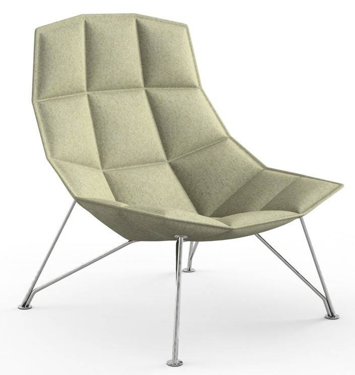Knoll Markus Jehs and Jurgen Laub - Lounge Chair (Fixed Back, Wire Base)