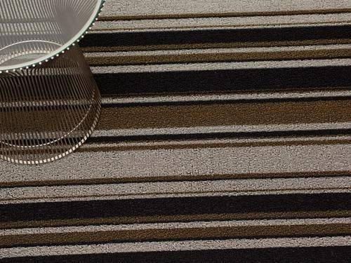 Chilewich Mixed Stripe Shag Indoor/Outdoor Mats