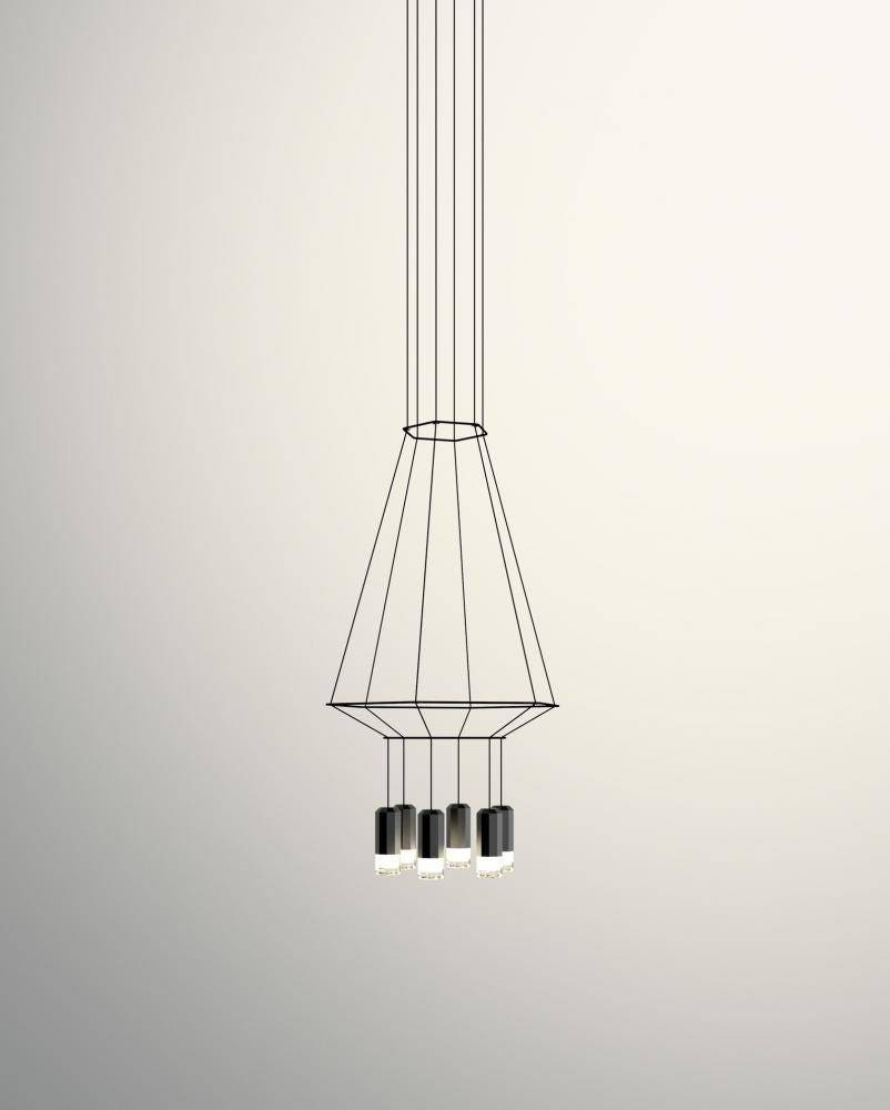 Vibia Wireflow Hexagonal 6 Light Pendant Lamp
