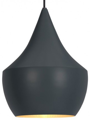 Tom Dixon Beat Pendant Light Fat, Black