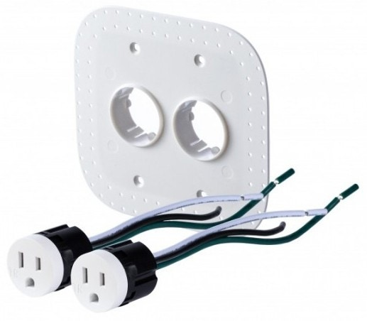 Bocci 22.5.2 15A Drywall Outlet Assembly