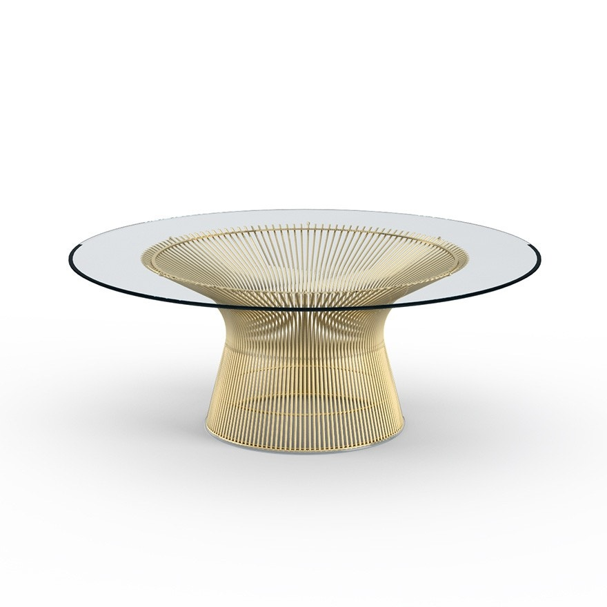 Knoll warren platner coffee table in gold gr shop canada for Warren platner coffee table