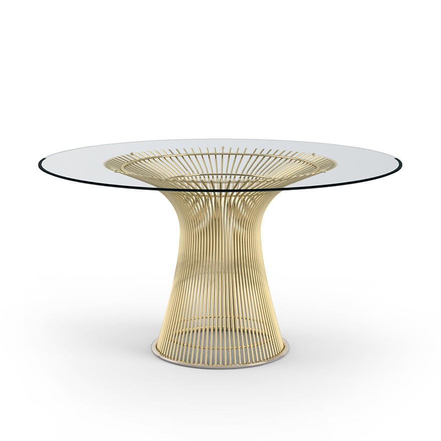 Knoll Warren Platner Dining Table in Gold