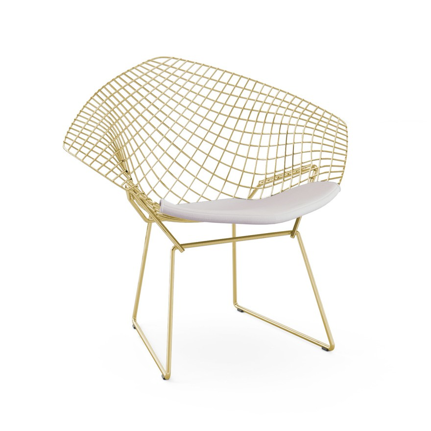 knoll harry bertoia diamond lounge chair in gold gr shop. Black Bedroom Furniture Sets. Home Design Ideas