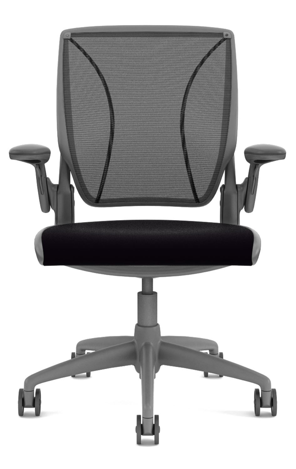 polished aluminium furniture ergonomic scene humanscale chairs greenwood vellum chair shop office with frame task freedom