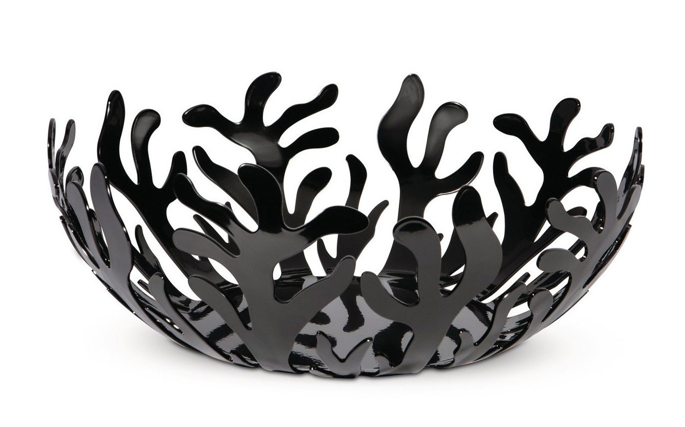 Alessi Mediterraneo Black Fruit holder, 21cm