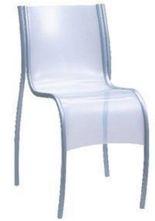 Kartell FPE Chair in White (Priced Each, Sold in Sets of 2)