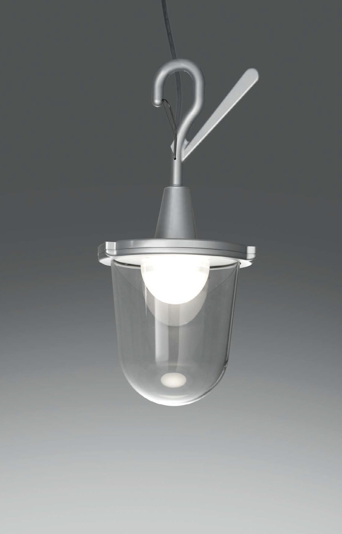 Artemide Tolomeo Lantern Outdoor Hook Lamp
