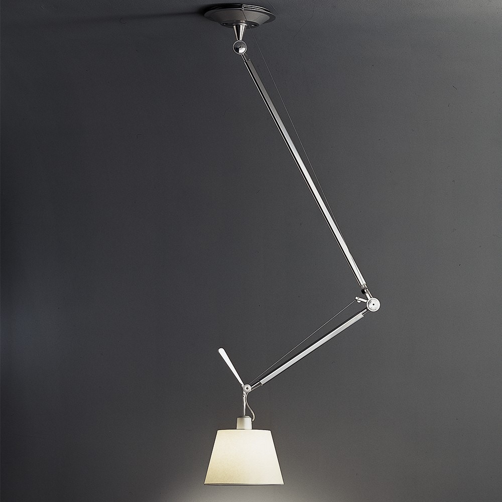 Artemide Tolomeo Off Center With Shade Suspension Lamp