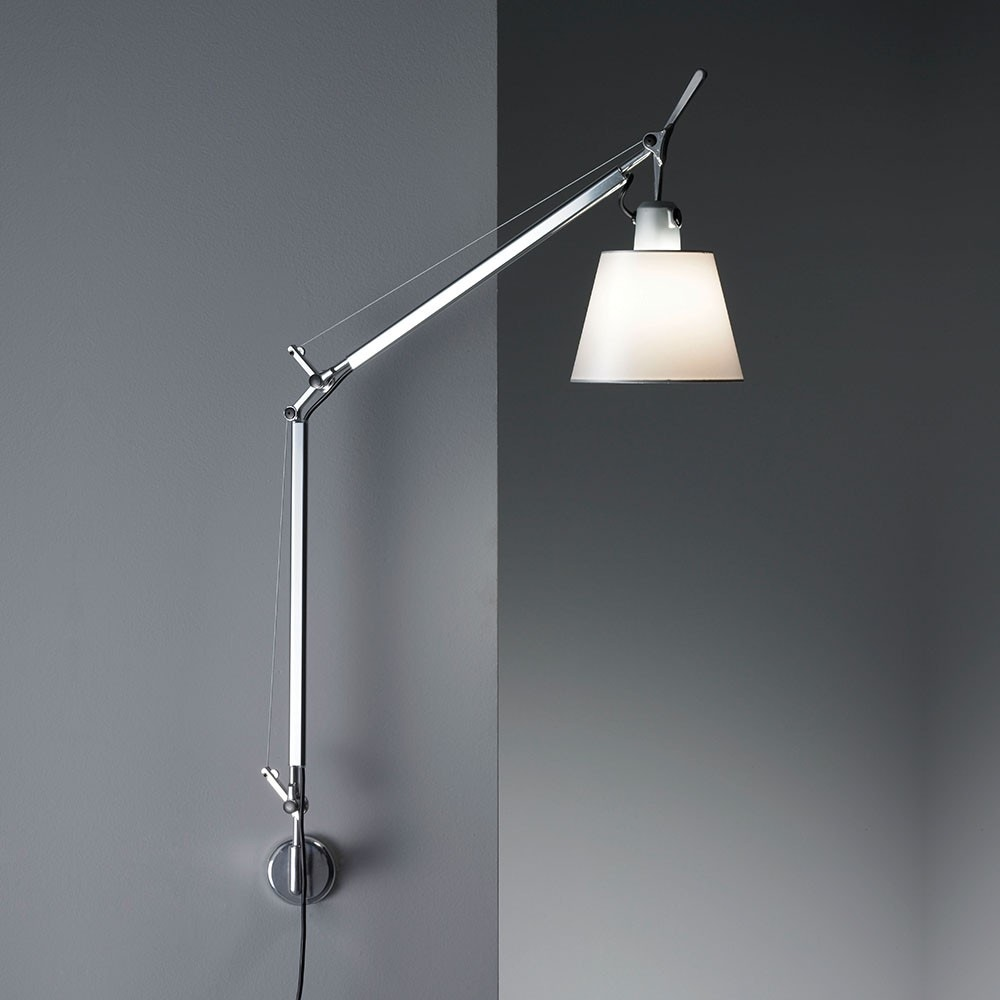 artemide tolomeo with shade wall lamp gr shop canada. Black Bedroom Furniture Sets. Home Design Ideas