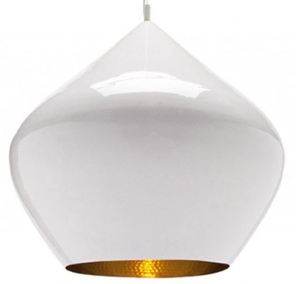 Tom Dixon Beat Pendant Light Stout, White