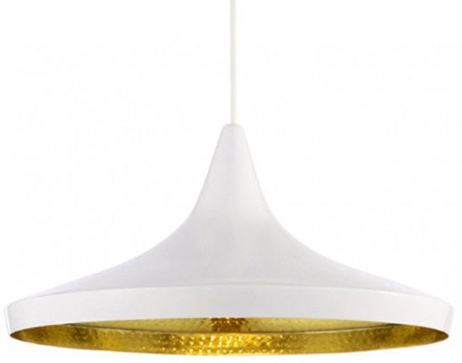 Tom Dixon Beat Pendant Light Wide, White