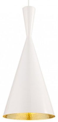 Tom Dixon Beat Pendant Light Tall, White