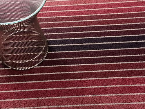 Chilewich Block Stripe Shag Indoor/Outdoor Mats