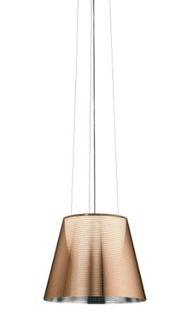 CLEARANCE - Flos Ktribe S2 Suspension Lamp - Aluminized Bronze, Fluorescent