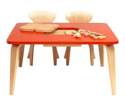 Cherner Children's Classroom Table with Storage Box